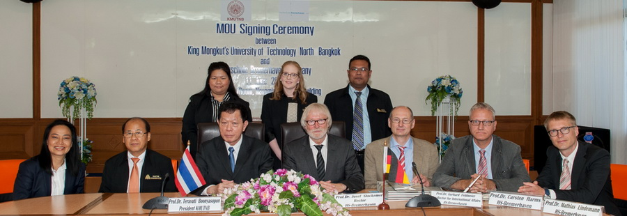 MOU signing ceremony with HS-Bremerhaven, Germany