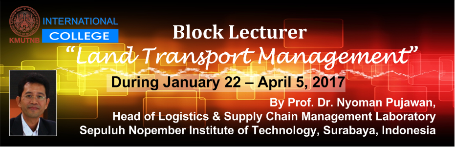 Block Lecture: Land Transportation