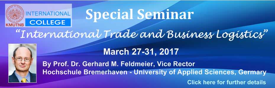 Special Seminar on International Trade and Business Logistics