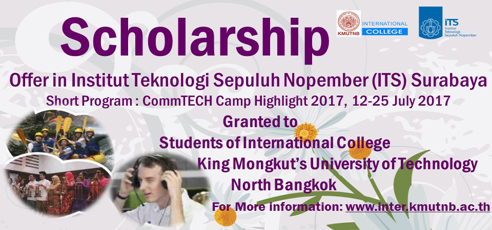 Scholarship : CommTECH Highlight Camp 2017 @Institut Teknologi Sepuluh Nopember (ITS) Surabaya