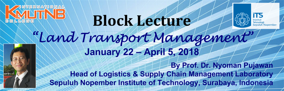 Block Lecture 2018: Land Transportation