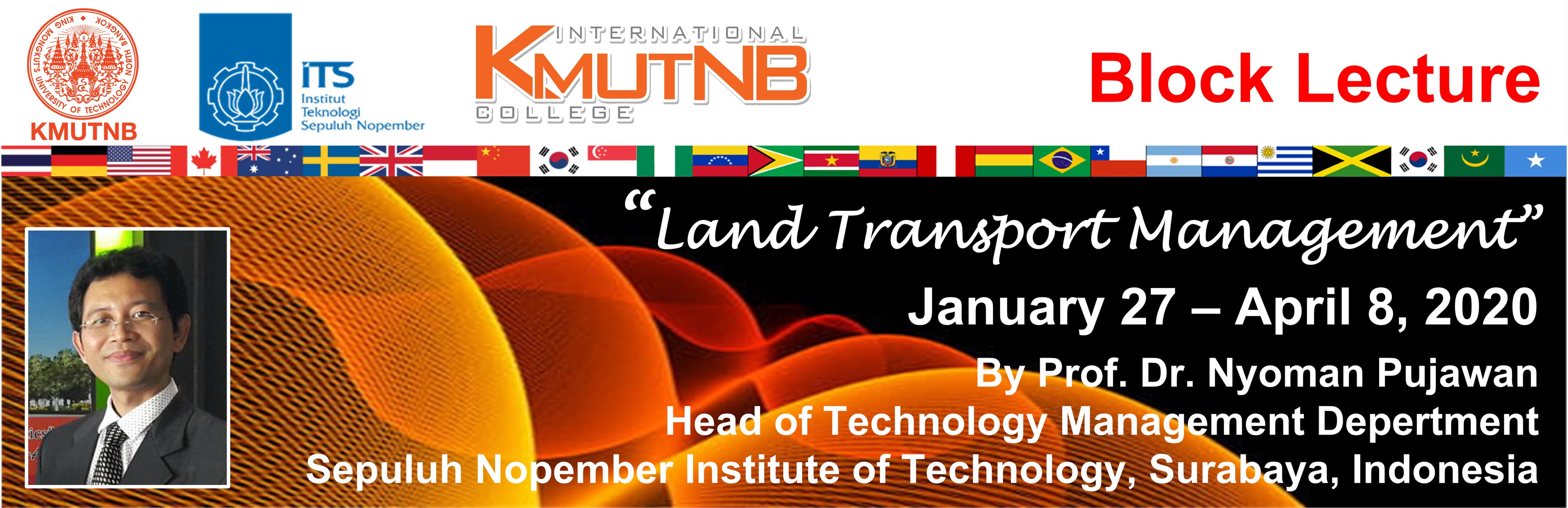 Block Lecture 2020: Land Transport Management