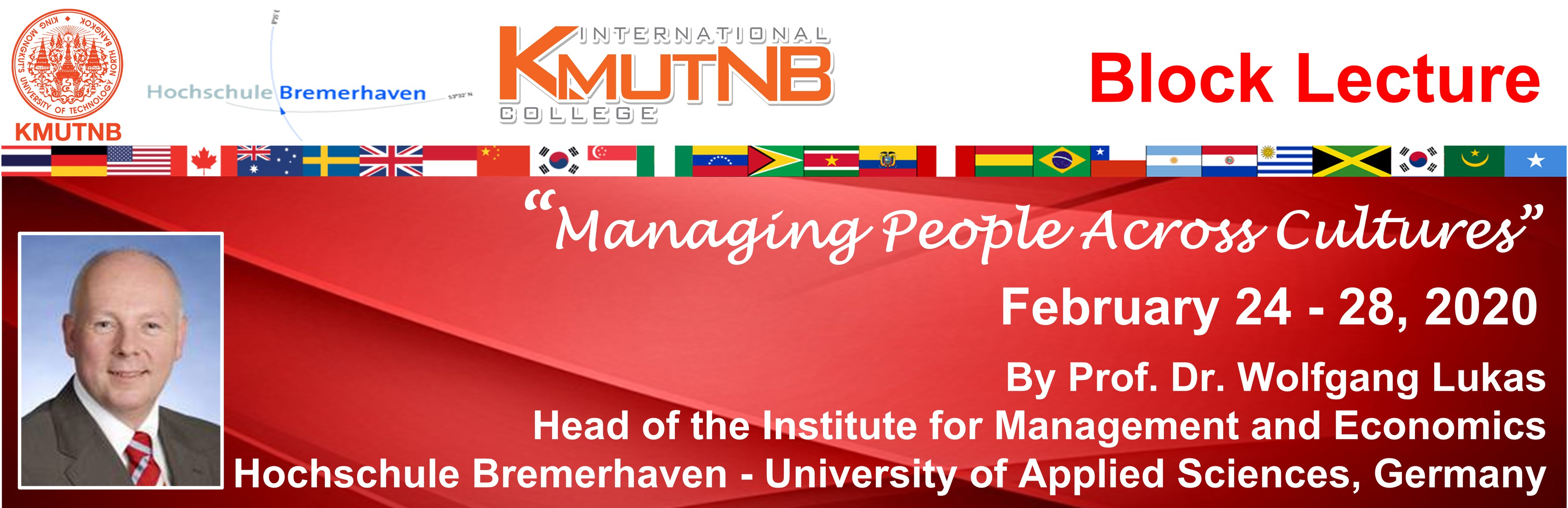 Block Lecture 2020-: Managing People Across Cultures