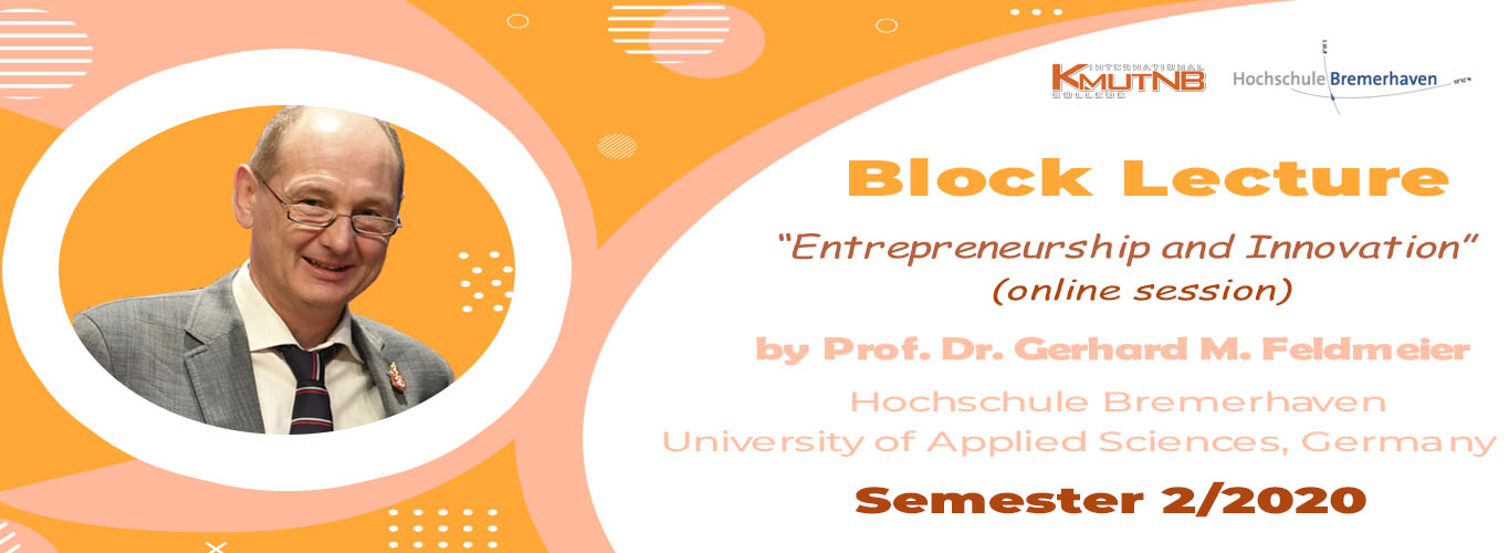 Block Lecture 2021-: Entrepreneurship and Innovation