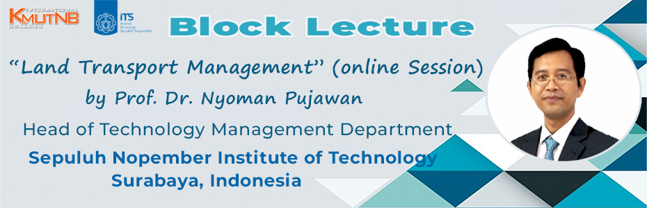 Block Lecture 2021: Land Transport Management