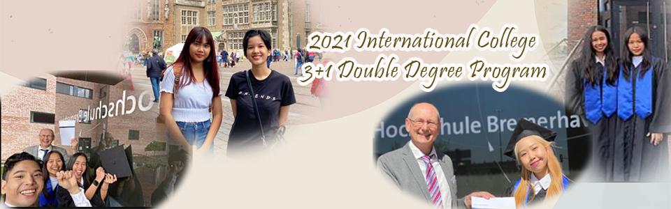 2021 International College: 3+1 Double Degree Program